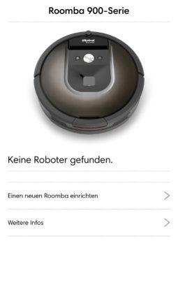 Hinzufügen eines Roomba