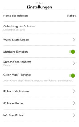 Einstellungsmenü WLAN, Karte & Co.