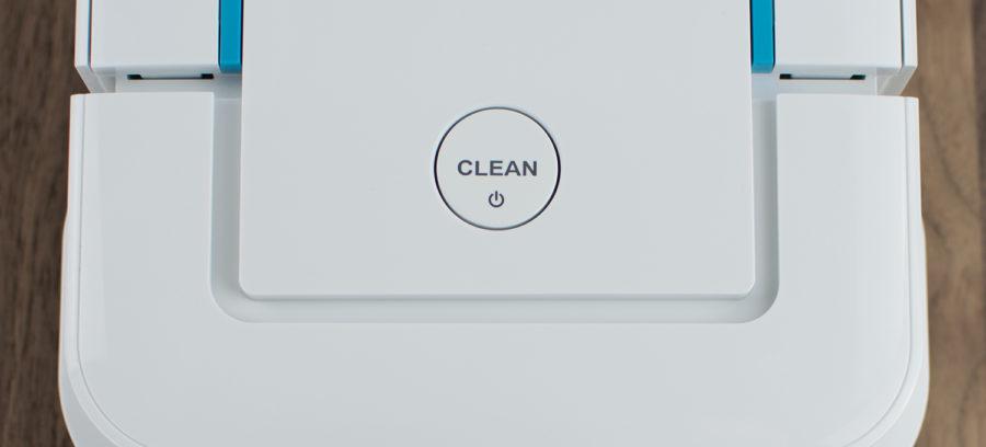 Clean-Knopf zum Starten, Stoppen und Pausieren