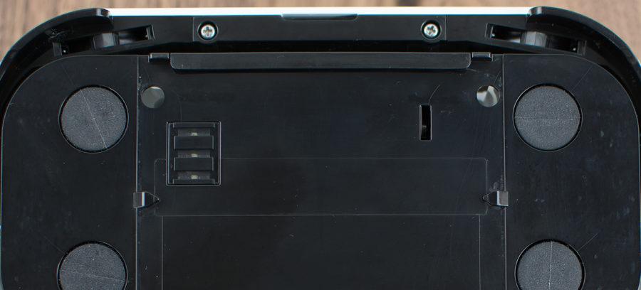 Vibrierende Tuchaufnahme und Absturzsensoren (links & rechts)