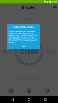 Hinweise zum Virtual Wall Modus