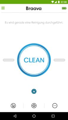 Hinweis des Reinigungsstatus