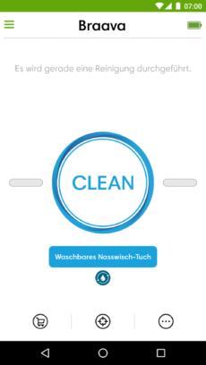 Hinweis zum Reinigungstuch