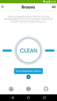 Aktivierung des Virtual-Wall-Modus
