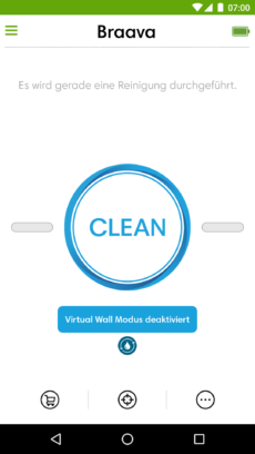 Deaktivierung des Virtual-Wall-Modus