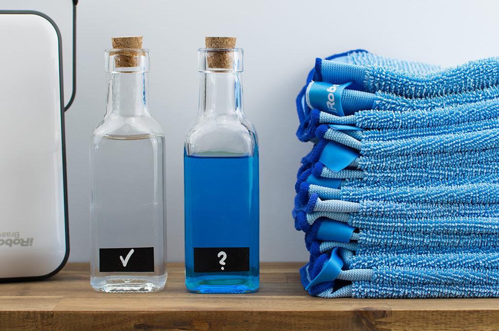 Empfohlene Reinigungszusätze für Braava 390t