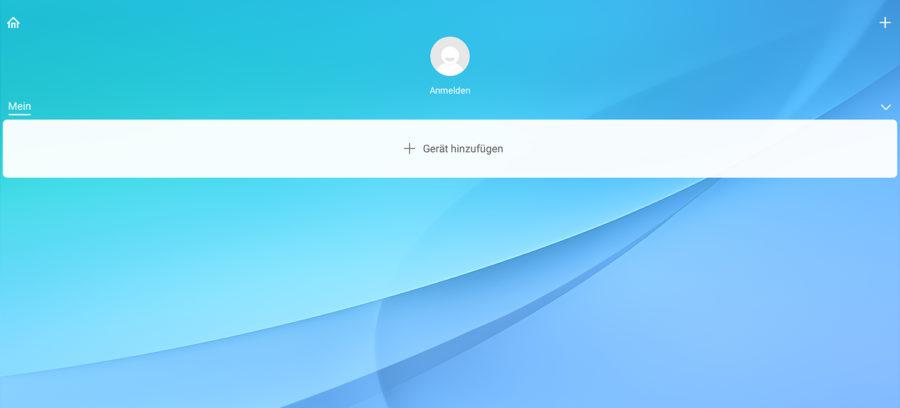 Startseite der Mi-Home Anwendung (russisch)
